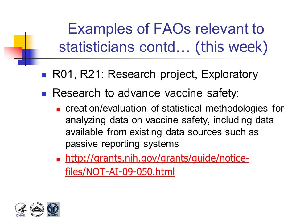 Examples of FAOs relevant to statisticians contd… (this week)