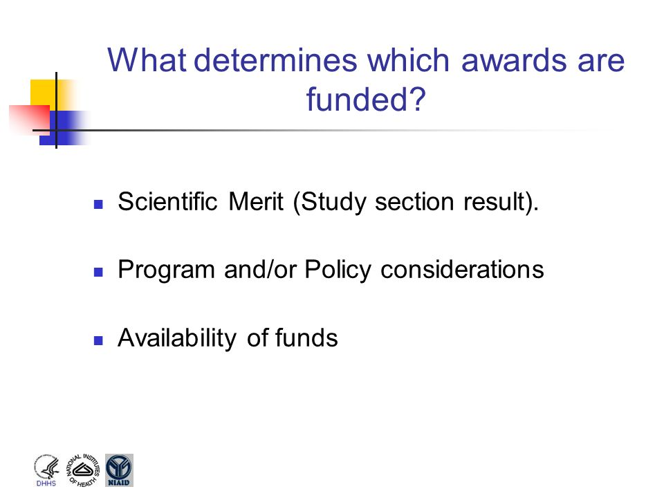 What determines which awards are funded