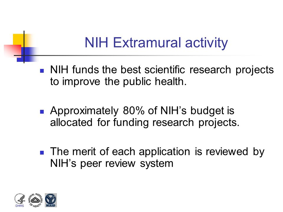Nih grant mechanisms and funding process ppt video for Extra mural research