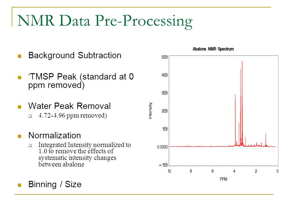 NMR Data Pre-Processing