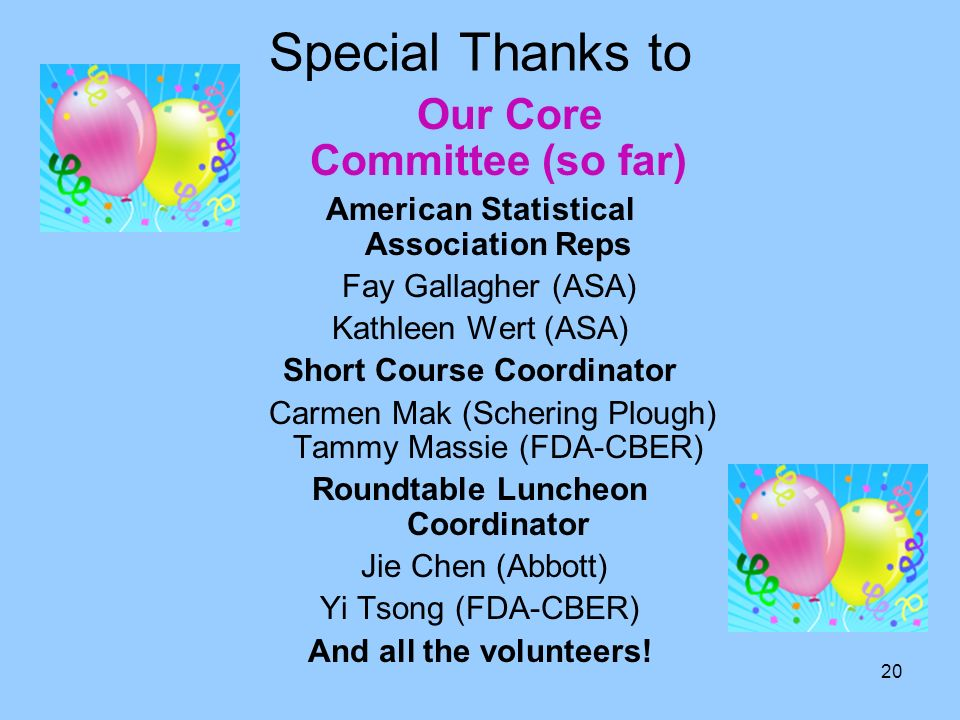 Our Core Committee (so far)