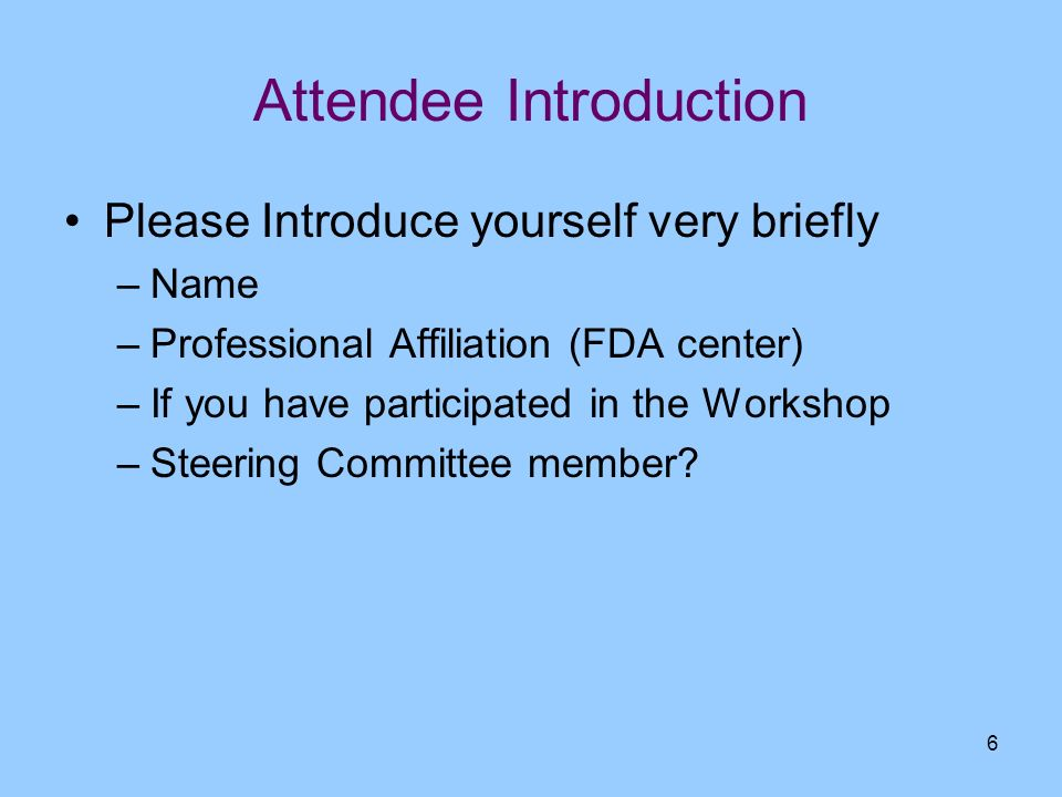 Attendee Introduction