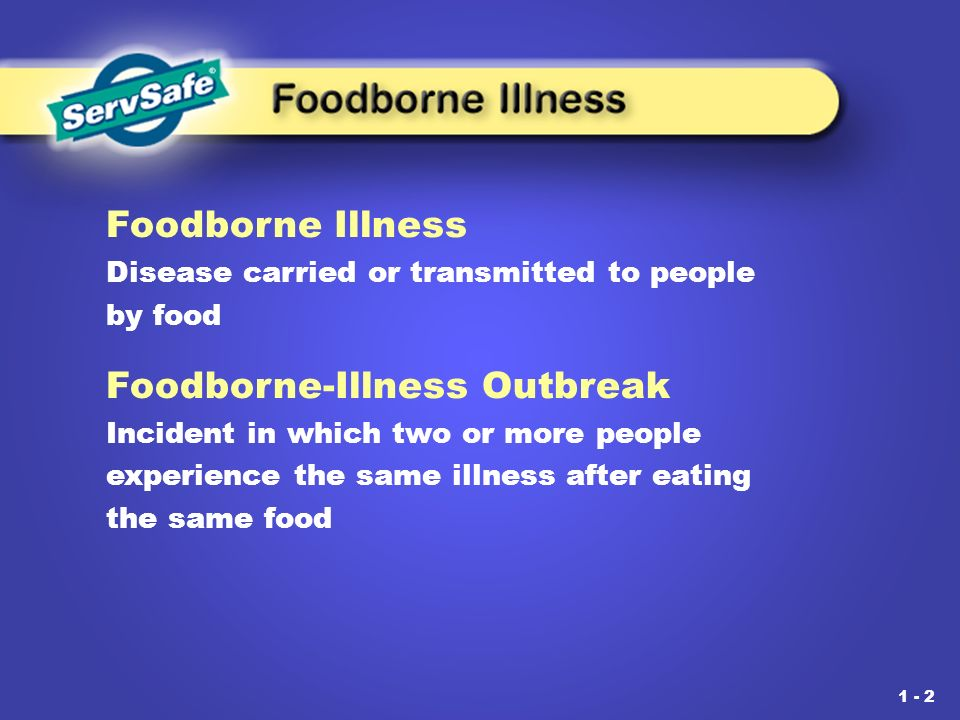 foodborne illness short answer A foodborne illness is an illness transmitted through consumption of a bacteria or virus through eating e coli and salmonella are both foodborne illnesses.
