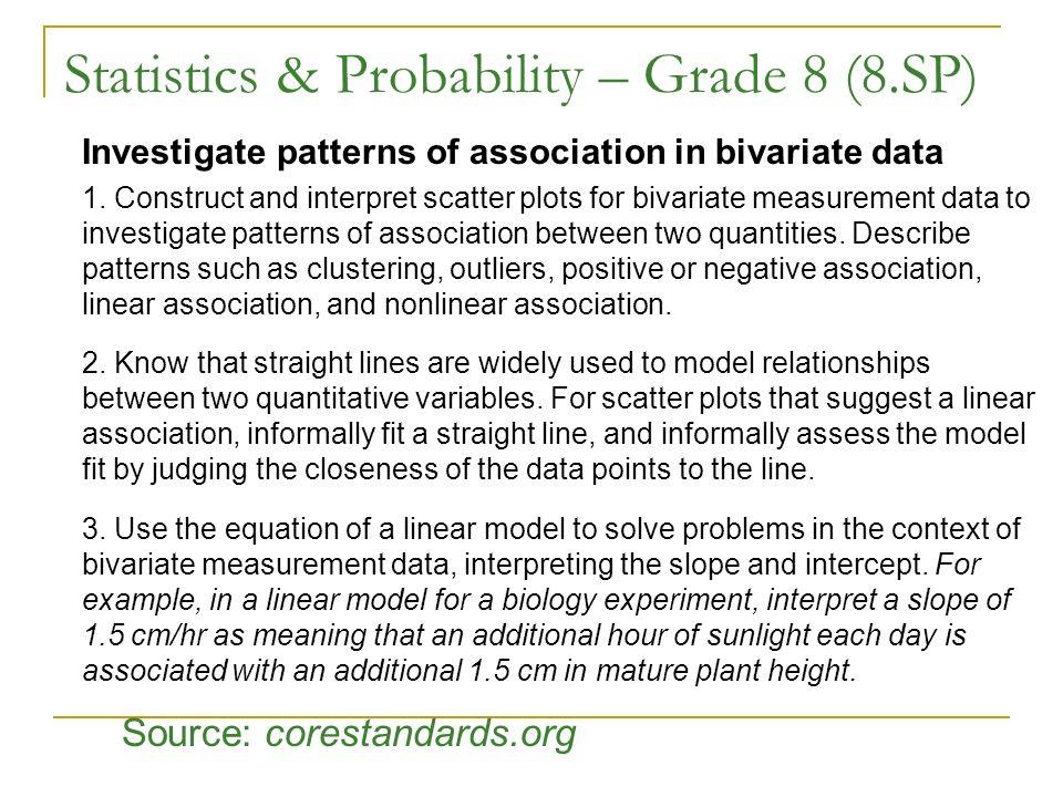 Statistics & Probability – Grade 8 (8.SP)