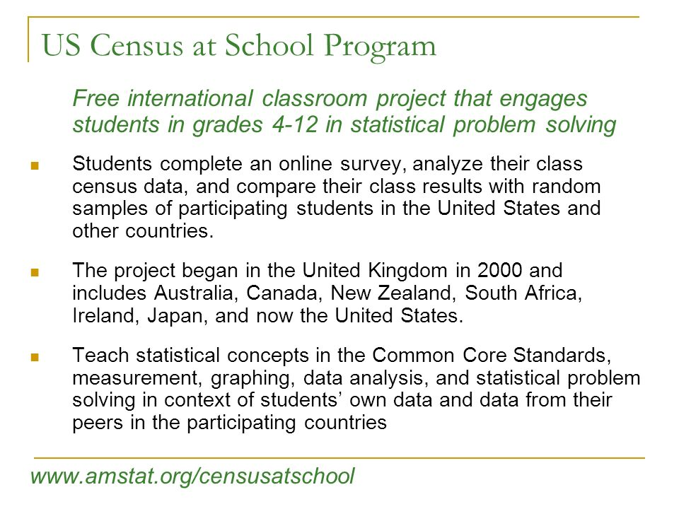 US Census at School Program