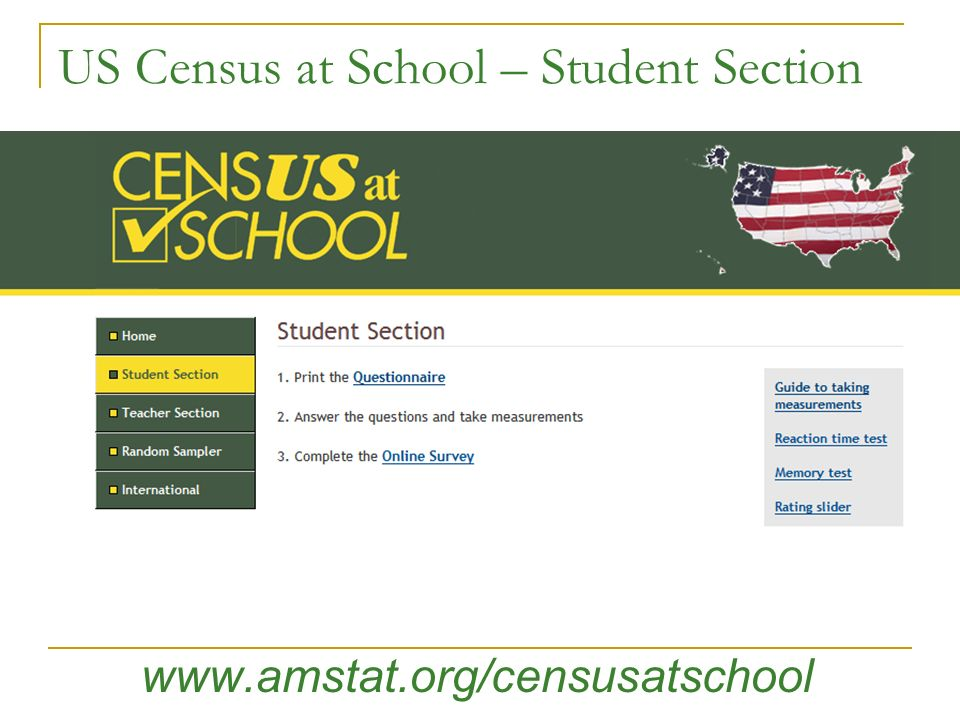 US Census at School – Student Section