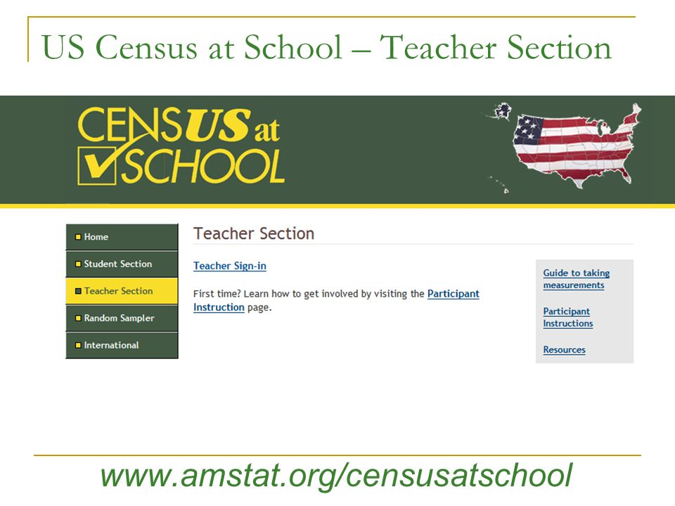 US Census at School – Teacher Section