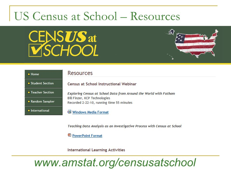 US Census at School – Resources