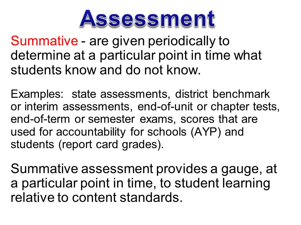 Differentiated Formative Assessment To Improve Student Learning