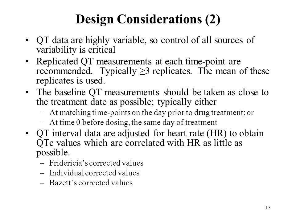Design Considerations (2)