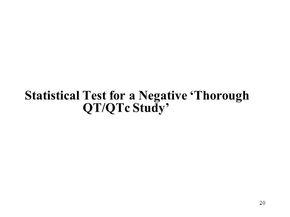 Statistical Test for a Negative 'Thorough QT/QTc Study'