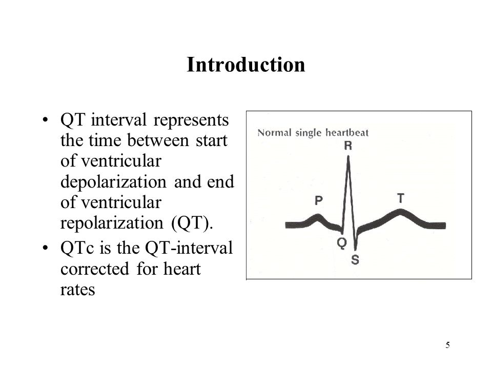 Introduction QT interval represents the time between start of ventricular depolarization and end of ventricular repolarization (QT).
