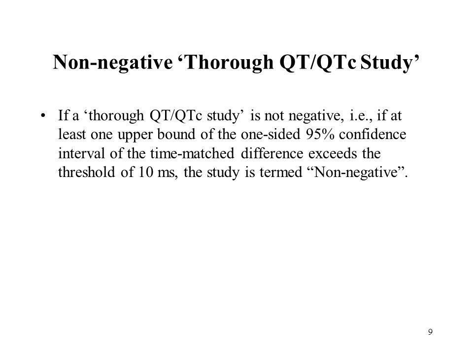 Non-negative 'Thorough QT/QTc Study'