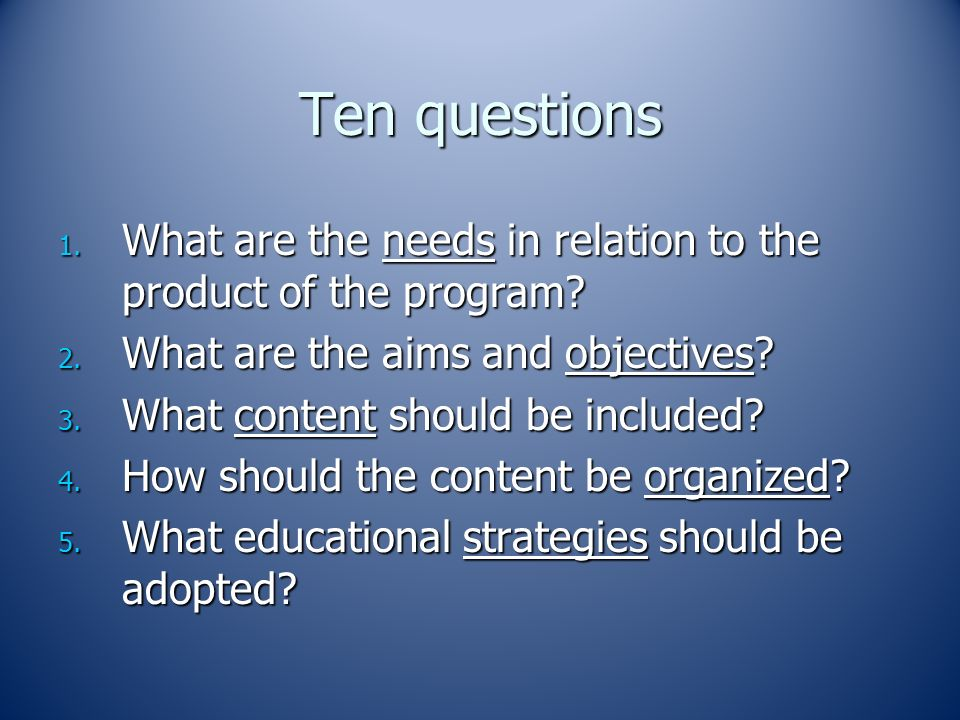 planning a course or curriculum ppt