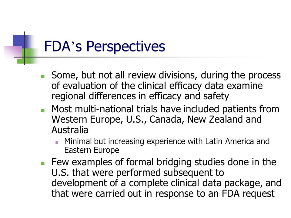 FDA's Perspectives