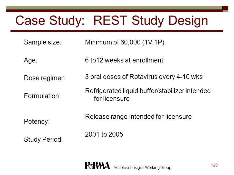 Case Study: REST Study Design