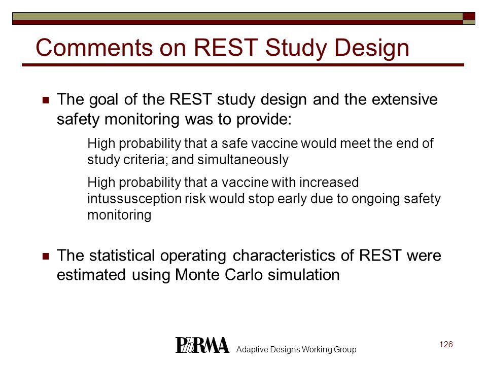 Comments on REST Study Design