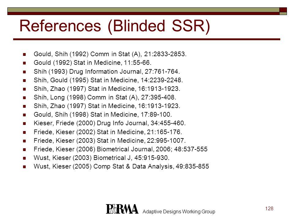 References (Blinded SSR)