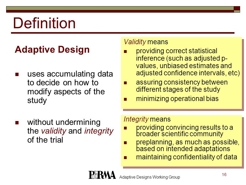 Definition Adaptive Design