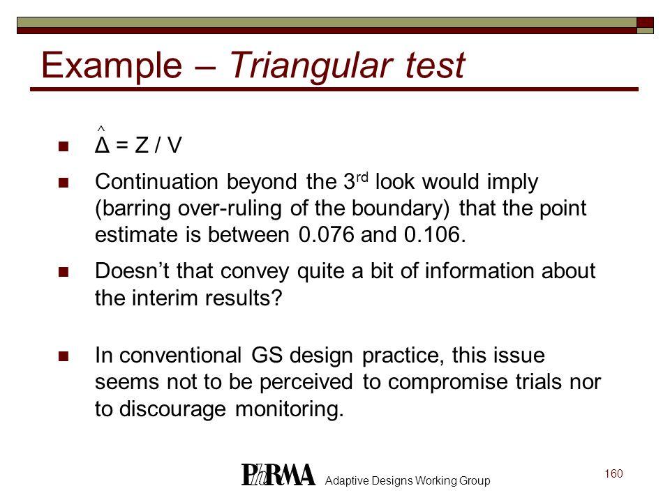 Example – Triangular test