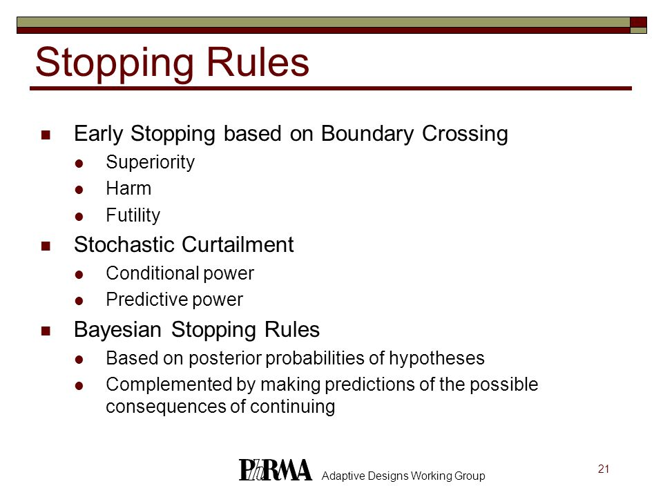 Stopping Rules Early Stopping based on Boundary Crossing
