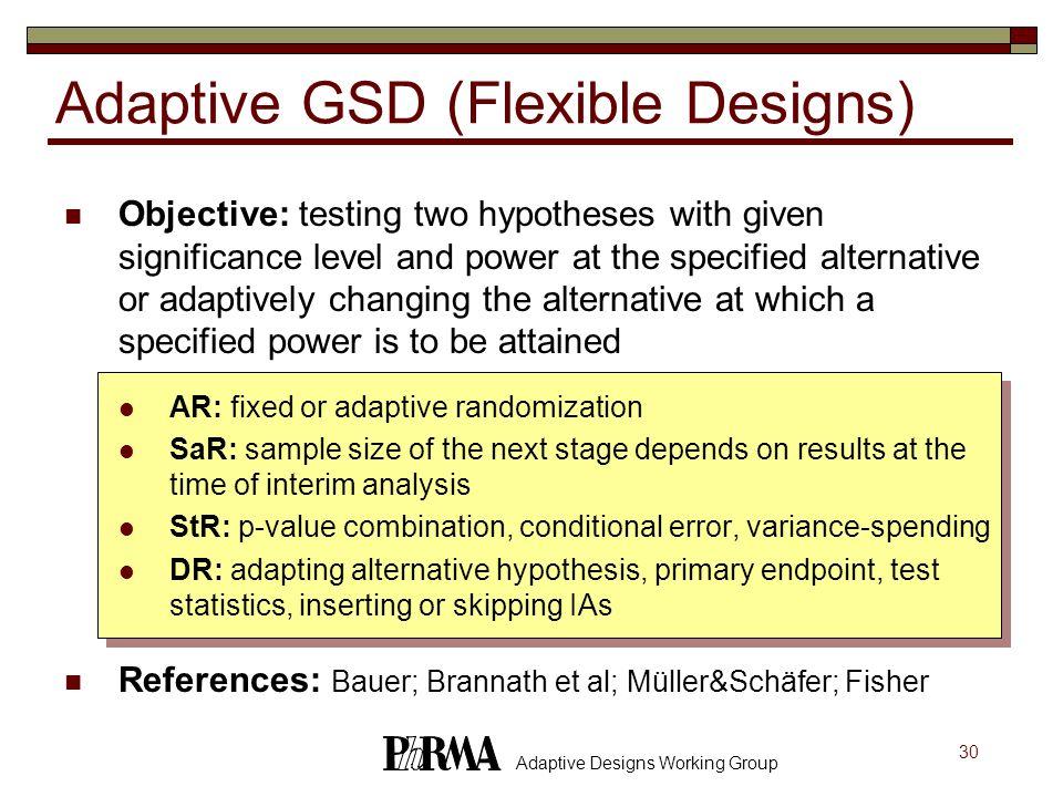 Adaptive GSD (Flexible Designs)