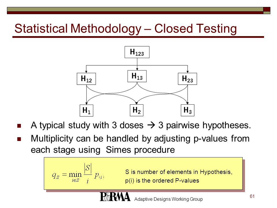 Statistical Methodology – Closed Testing