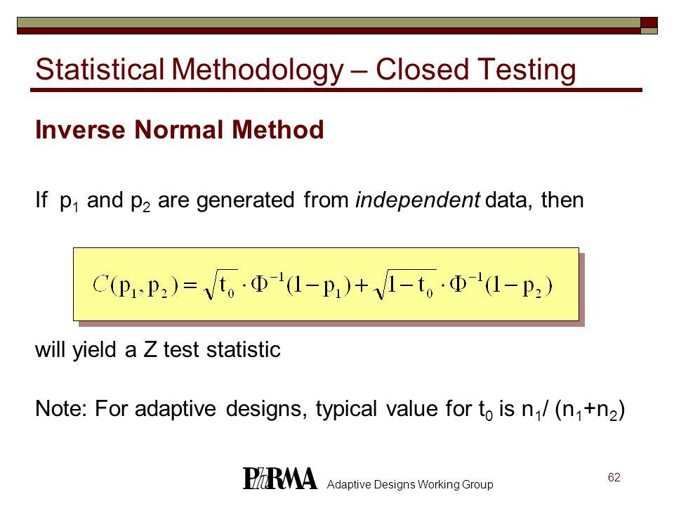 Statistical Methodology – Closed Testing