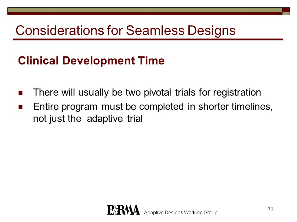 Considerations for Seamless Designs