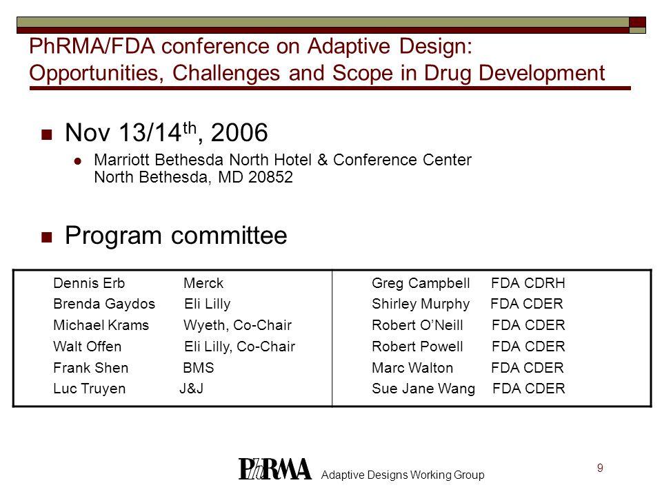 Nov 13/14th, 2006 Program committee