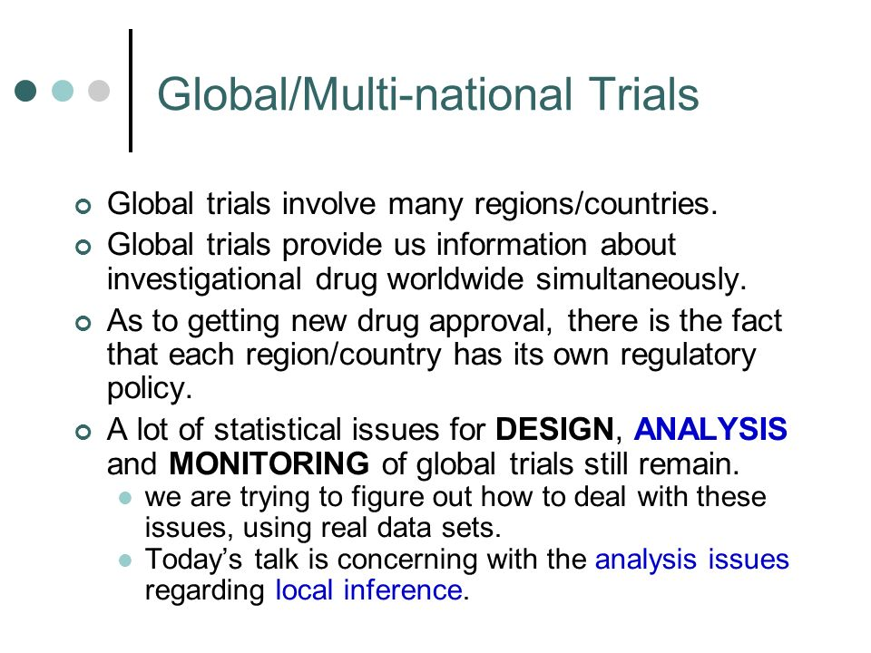 Global/Multi-national Trials