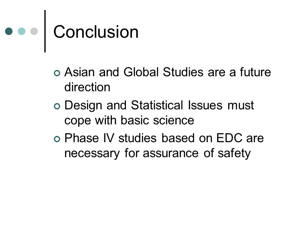 Conclusion Asian and Global Studies are a future direction