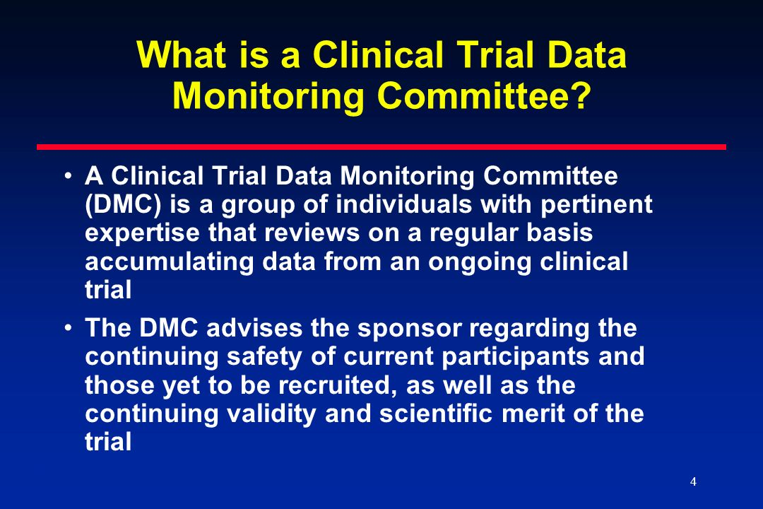 What is a Clinical Trial Data Monitoring Committee