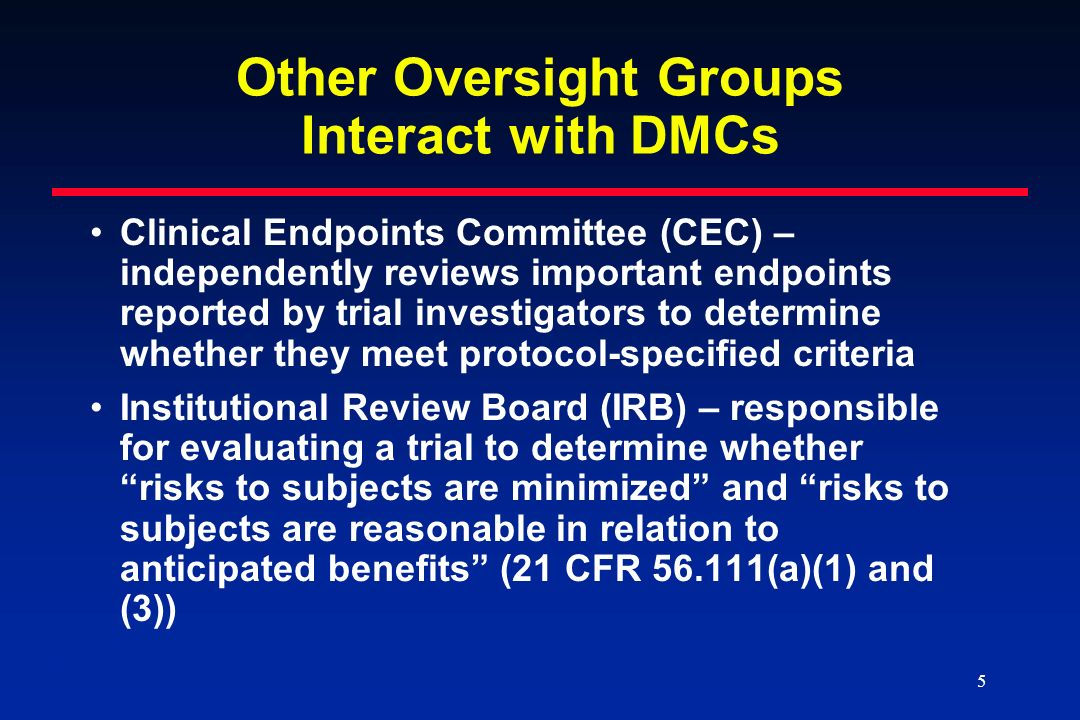 Other Oversight Groups Interact with DMCs