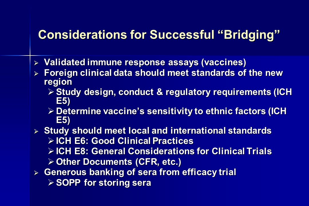 Considerations for Successful Bridging
