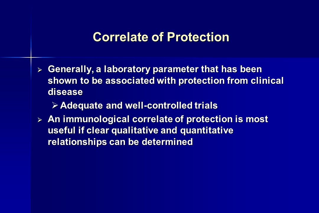 Correlate of Protection