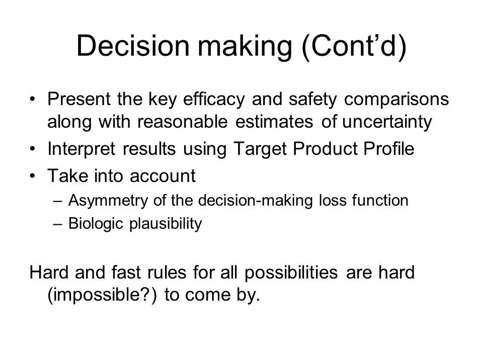 Decision making (Cont'd)