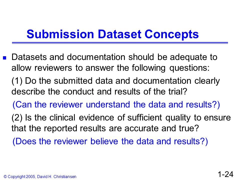 Submission Dataset Concepts