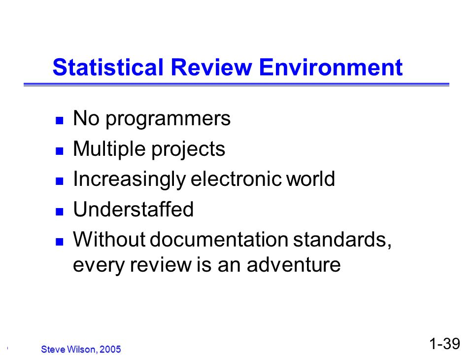 Statistical Review Environment