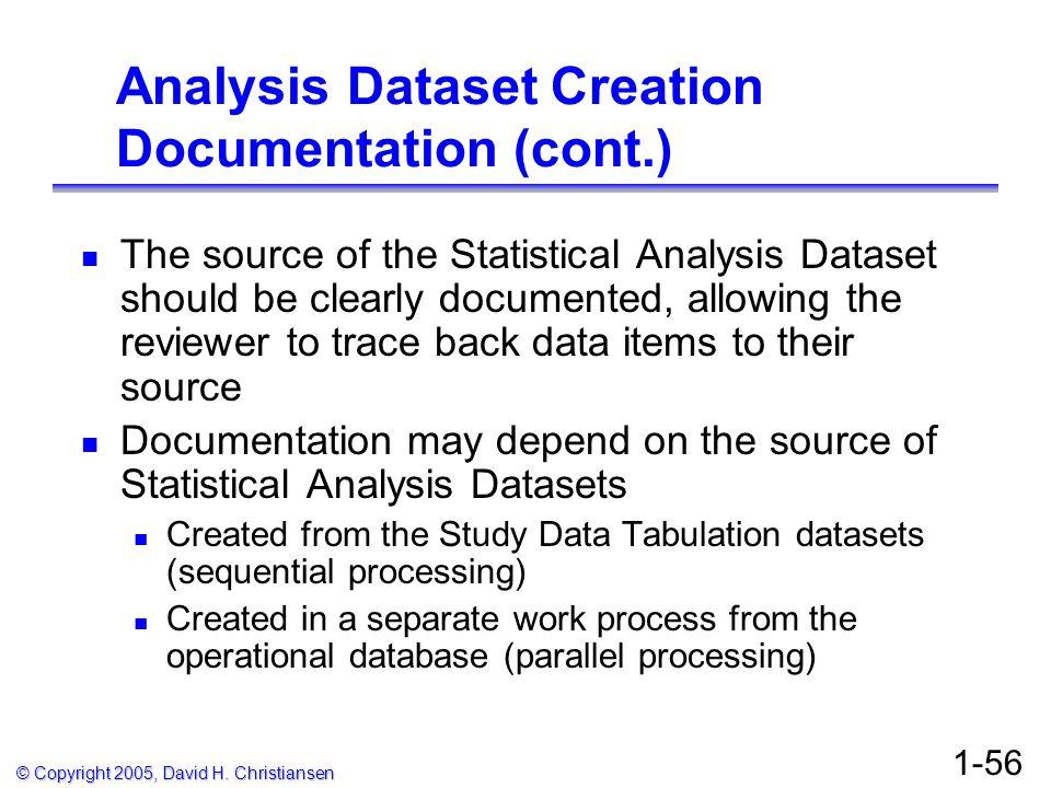 Analysis Dataset Creation Documentation (cont.)