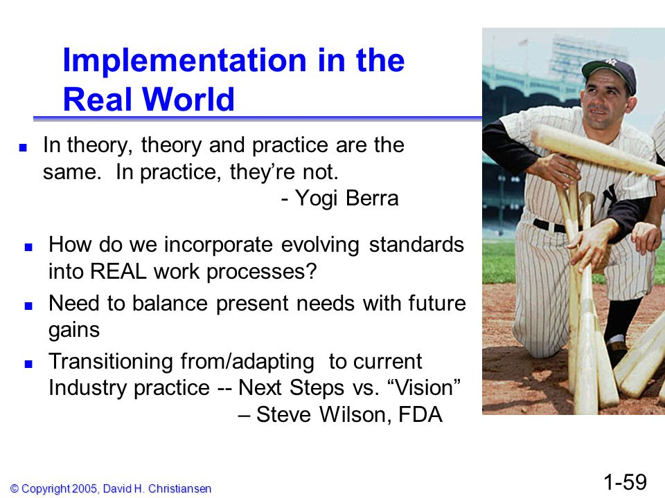Implementation in the Real World