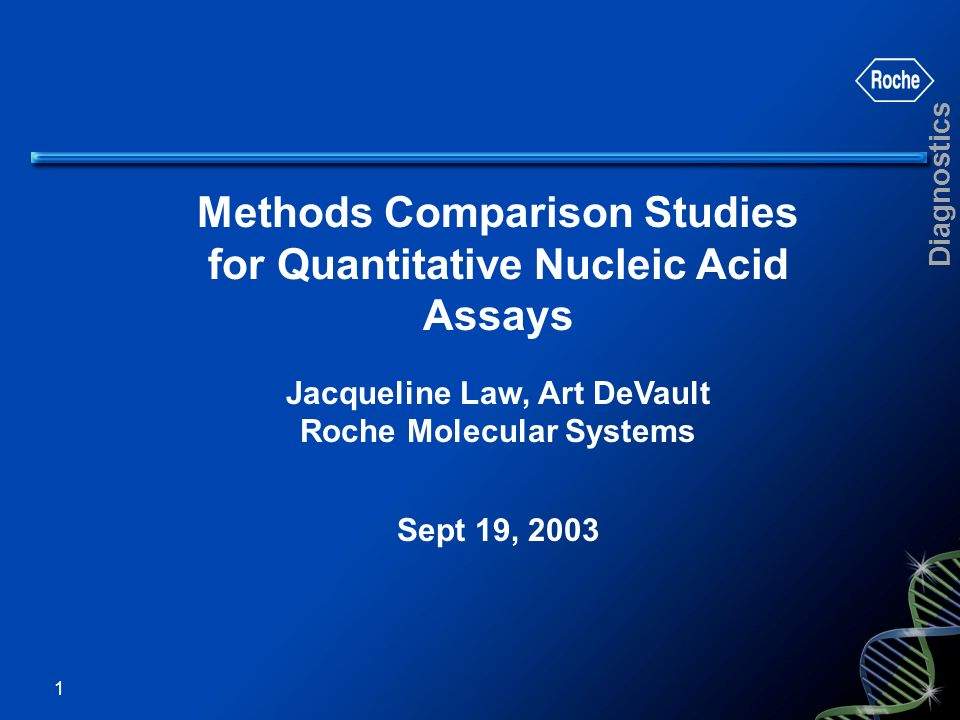 Methods Comparison Studies for Quantitative Nucleic Acid Assays