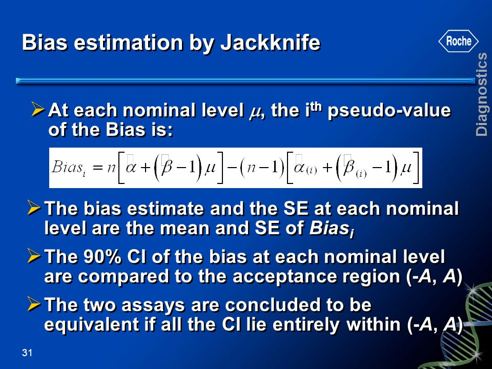 Bias estimation by Jackknife