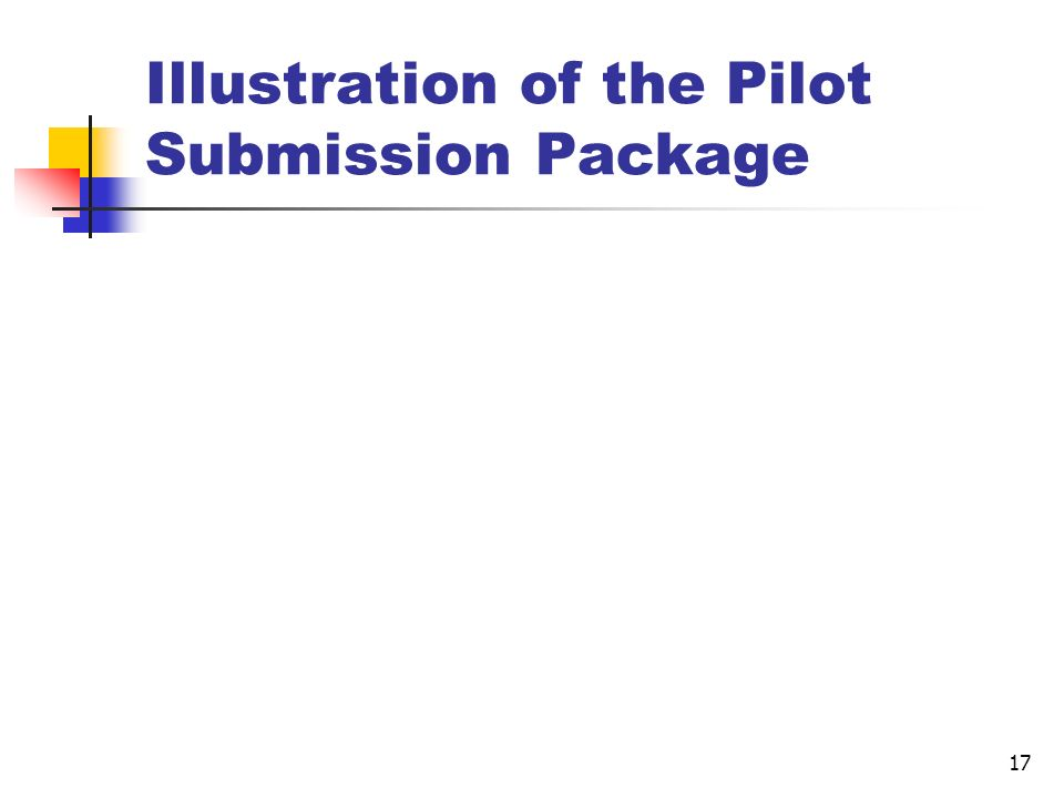 Illustration of the Pilot Submission Package