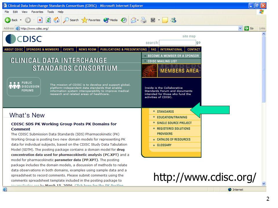 http://www.cdisc.org/