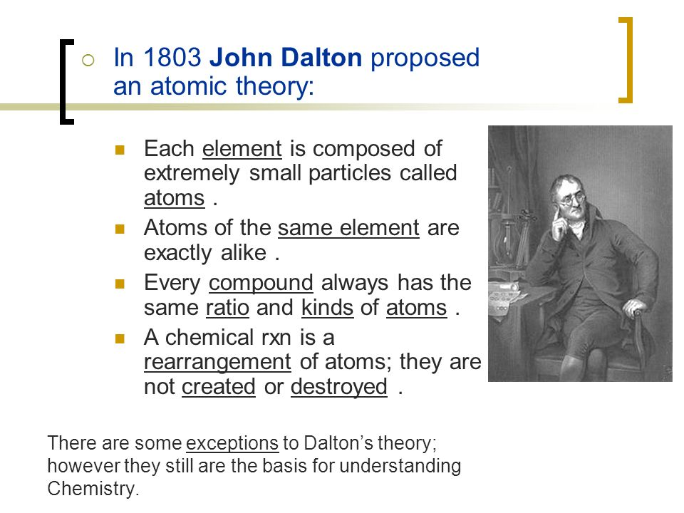 Unit 3 part 1 atomic structure the periodic table ppt video in 1803 john dalton proposed an atomic theory urtaz Choice Image