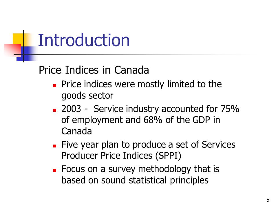 Introduction Price Indices in Canada