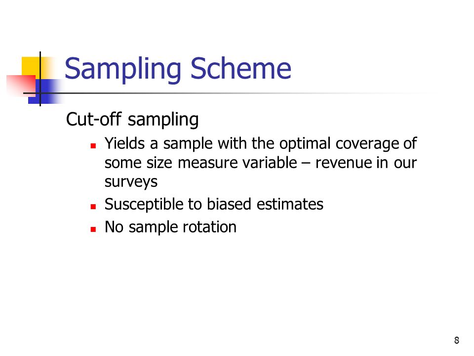 Sampling Scheme Cut-off sampling