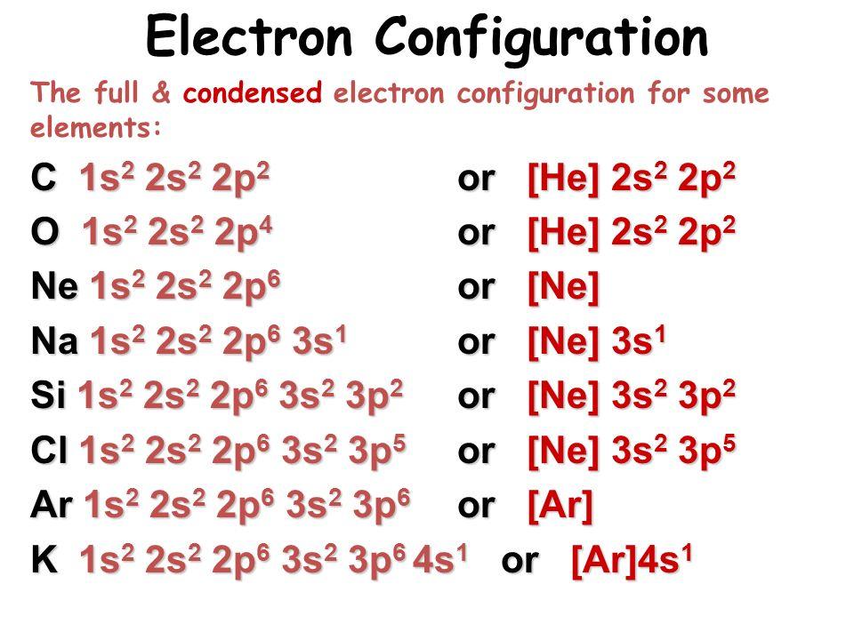 K Electron Configuration Many-Electron Atoms We...