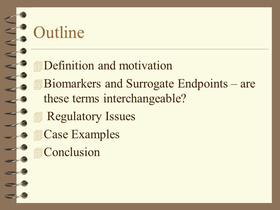 Outline Definition and motivation